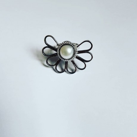Sterlingsilver ring and pearl HalfpastLove