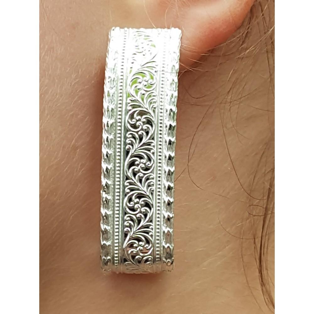 Sterling silver earrings LongandPetals
