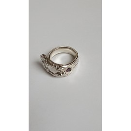 Silver ring & amethyst Love Stamina