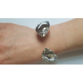 Silver bracelet & amethyst Restoration, Bijuterii de argint lucrate manual, handmade