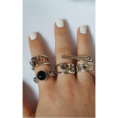 Silver ring & amethyst Love Stamina, Bijuterii de argint lucrate manual, handmade