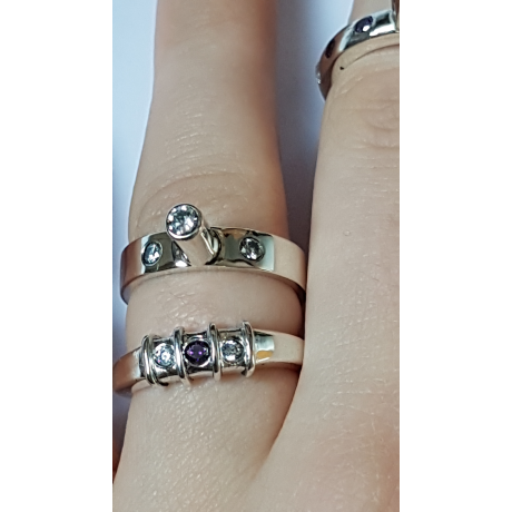 Sterling silver ring In-between , Bijuterii de argint lucrate manual, handmade