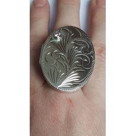 Sterling silver ring Love Capsule