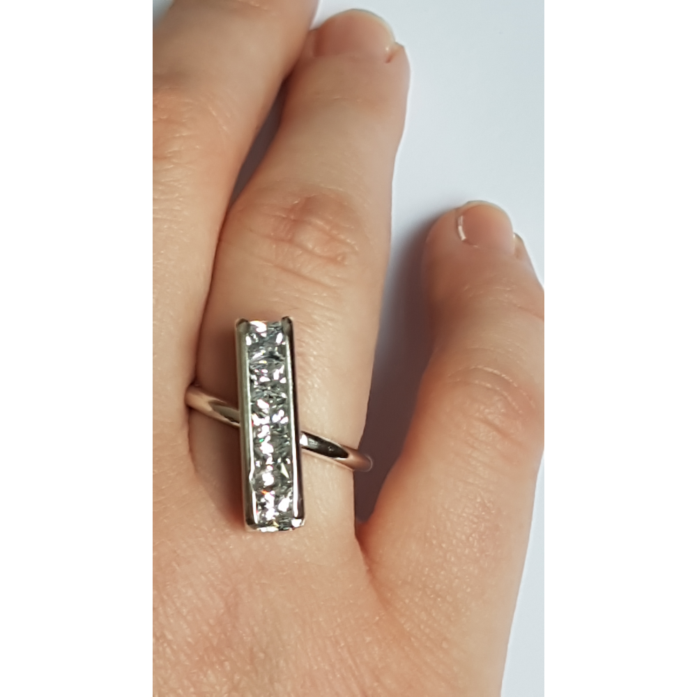 Sterling silver ring Catenae