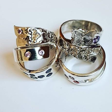 Sterling silver ring Nature 's Touch, Bijuterii de argint lucrate manual, handmade