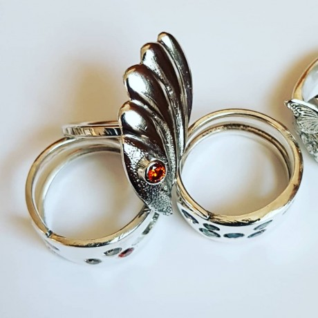Sterling silver ring Leaf Volumes , Bijuterii de argint lucrate manual, handmade