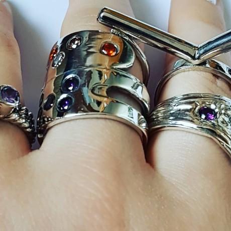 Sterling silver ring Branched , Bijuterii de argint lucrate manual, handmade