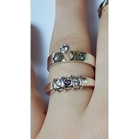Sterling silver ring Segments, Bijuterii de argint lucrate manual, handmade
