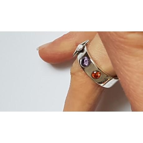 Sterling silver ring Pierced Glowwork, Bijuterii de argint lucrate manual, handmade