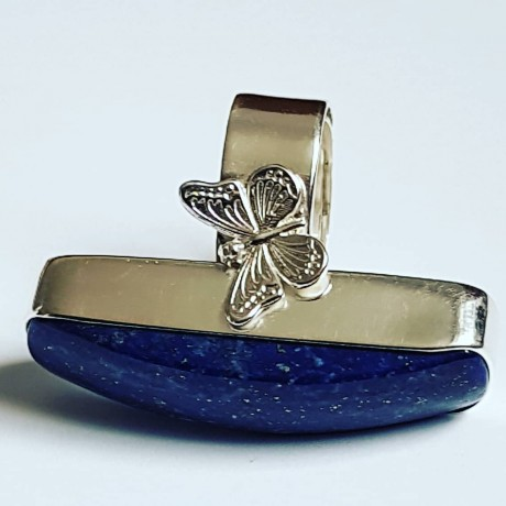 Massive Sterling silver ring with natural lapislazuli Butterflowers, Bijuterii de argint lucrate manual, handmade