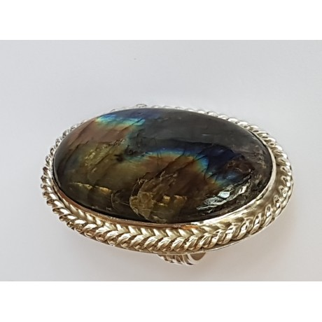 Large Sterling Silver ring with natural labradorite Lavish Mode, Bijuterii de argint lucrate manual, handmade