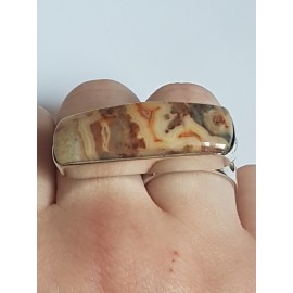 Sterling silver ring with natural Jasper Online, Bijuterii de argint lucrate manual, handmade