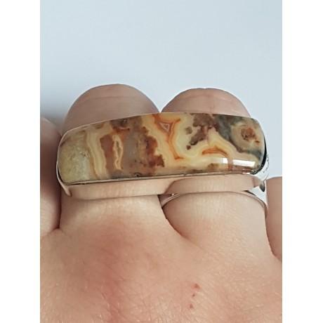 Sterling silver ring with natural Jasper Online, Bijuterii de argint lucrate manual, handmade