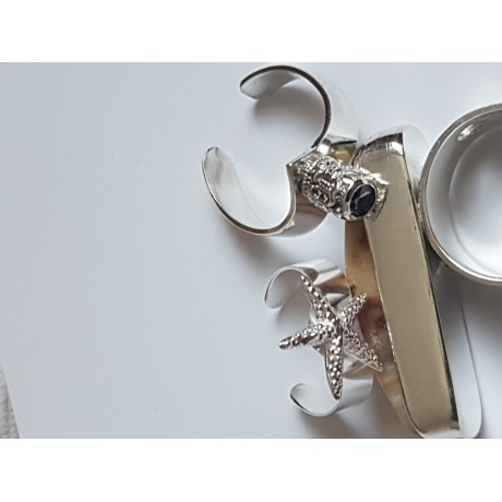 Sterling silver ring Valiant, Bijuterii de argint lucrate manual, handmade