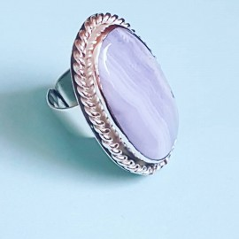Large Sterling Silver ring Soft Maidens
