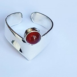 Sterling silver ring Red Genie