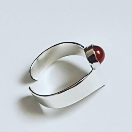 Sterling silver ring Red Genie, Bijuterii de argint lucrate manual, handmade