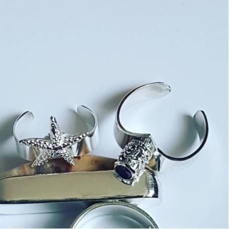 Sterling silver ring Blurred Stars, Bijuterii de argint lucrate manual, handmade
