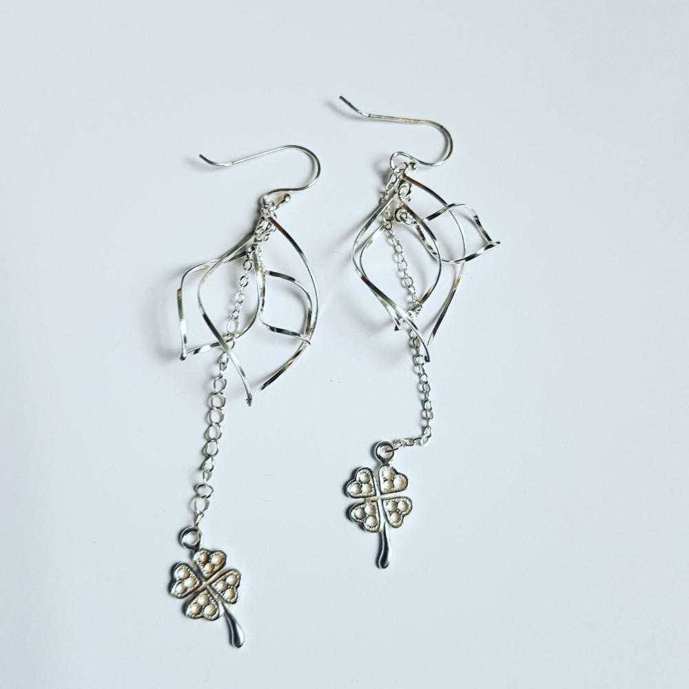 Sterling silver earrings Dancin' Clover
