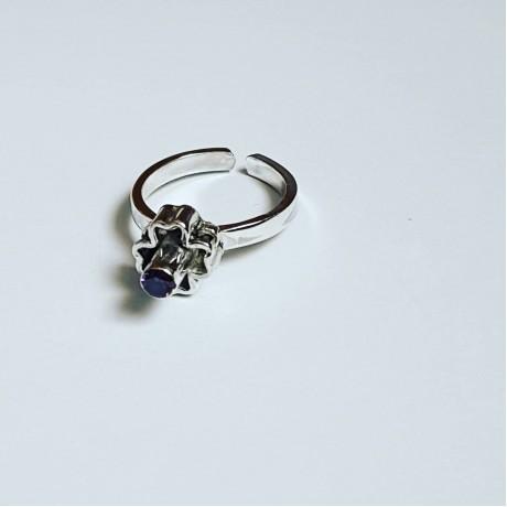 Sterling silver ring Crest, Bijuterii de argint lucrate manual, handmade