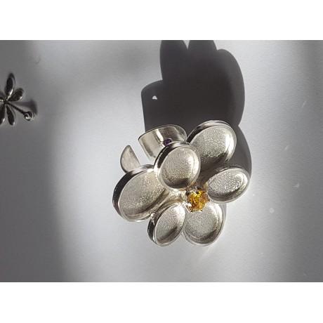 Sterling silver ring Flower Paradigm, Bijuterii de argint lucrate manual, handmade