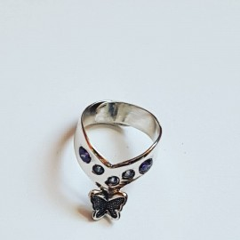 Sterling silver ring Spring Butterflyin'