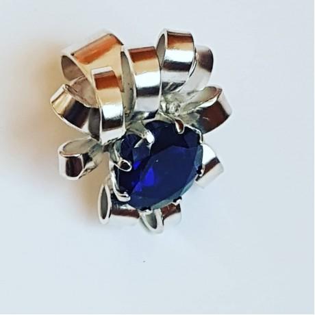 Sterling silver ring Sapphire Paradigm, Bijuterii de argint lucrate manual, handmade