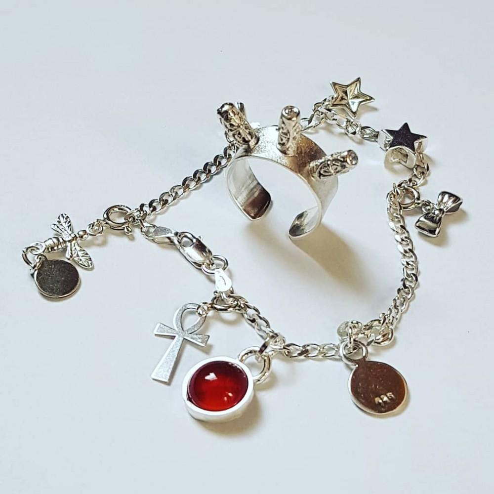 Sterling silver bracelet RedDot