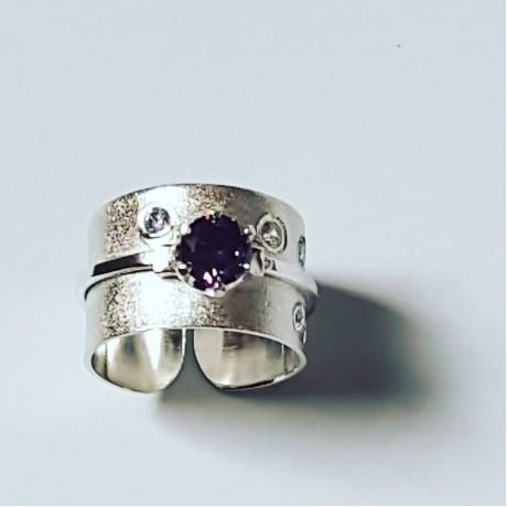 Sterling silver ring Love Tribulations, Bijuterii de argint lucrate manual, handmade