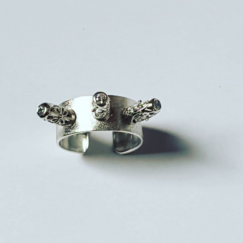 Sterling silver ring Love Moods