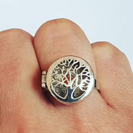 Sterling silver ring Ramify