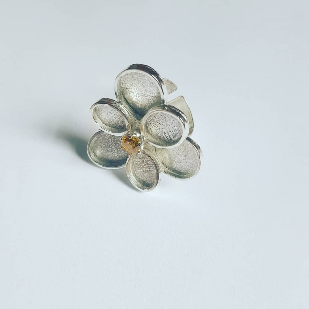 Sterling silver ring Flower Paradigm