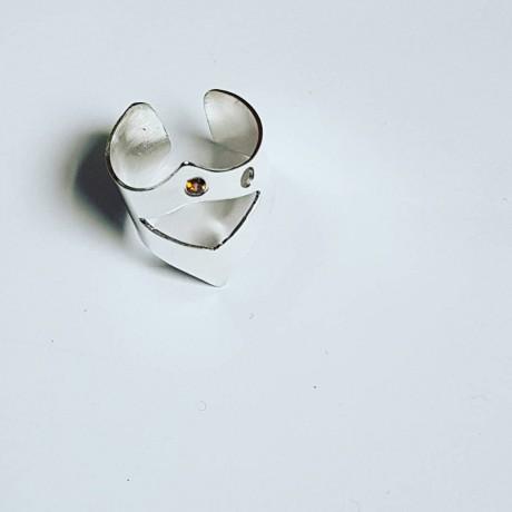 Sterling silver ring Arrowin ', Bijuterii de argint lucrate manual, handmade