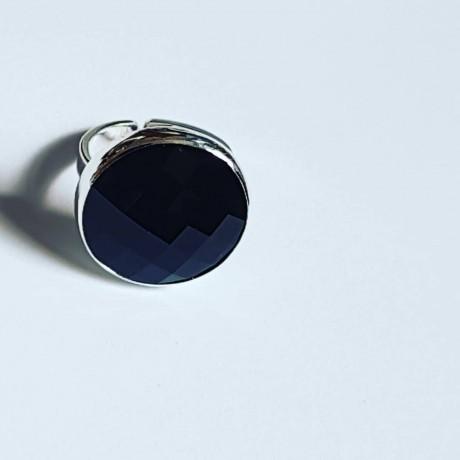 Sterling silver ring Black Sun, Bijuterii de argint lucrate manual, handmade