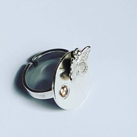 Sterling silver ring Spring of Joy, Bijuterii de argint lucrate manual, handmade