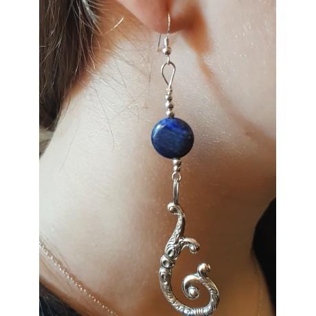 Sterling silver earrings Lapis Vibrancy , Bijuterii de argint lucrate manual, handmade