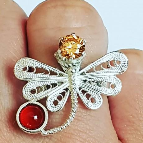 Sterling silver ring BabyBug , Bijuterii de argint lucrate manual, handmade