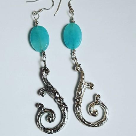 Sterling silver earrings LoveHooks, Bijuterii de argint lucrate manual, handmade