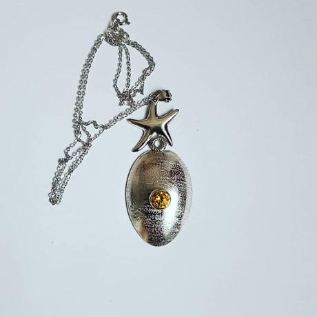 Sterling silver necklace Starry Spring , Bijuterii de argint lucrate manual, handmade