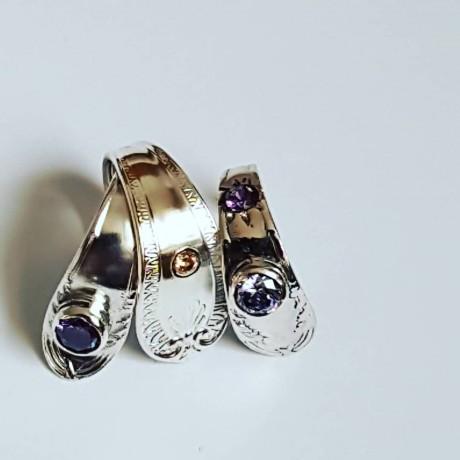 Sterling silver rings ThreeFold, Bijuterii de argint lucrate manual, handmade