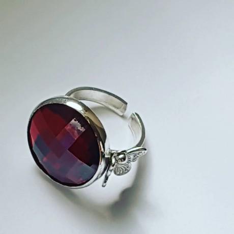 Sterling silver ring Reea Purpureea, Bijuterii de argint lucrate manual, handmade
