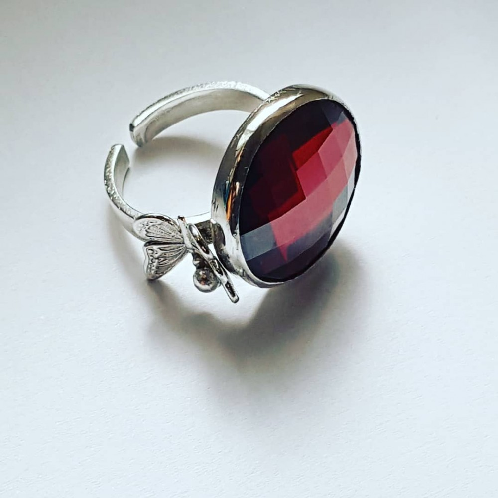 Sterling silver ring Reea Purpureea