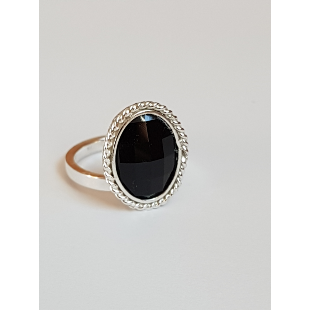 Sterling silver ring Blackie