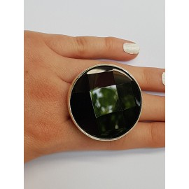 Sterling silver ring with natural onyx stone Bossy Blacks