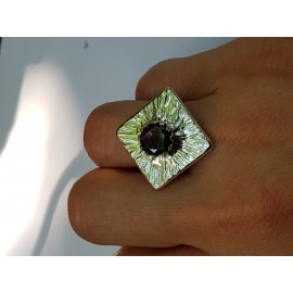Engagement ring made entirely by hand in Ag925 silver and amethyst, Bijuterii de argint lucrate manual, handmade