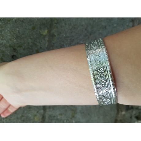 Handmade bracelet in solid Ag925 silver DobleLine, Bijuterii de argint lucrate manual, handmade