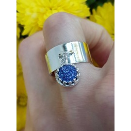 Sterling silver ring and crystal