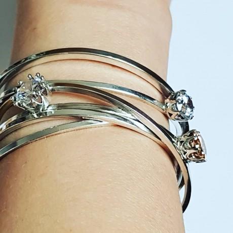 Sterling silver cuff Ludica, Bijuterii de argint lucrate manual, handmade
