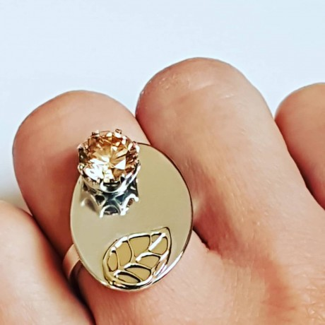 Sterling silver ring and gold