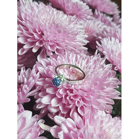 Sterling silver ring with crystals Swarovski, Bijuterii de argint lucrate manual, handmade